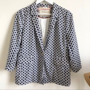 Anthropologie Cartonnier diamond polka dot blazer